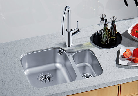 Blanco Supreme 533-U  Undermount Sink & Tap Pack Handed