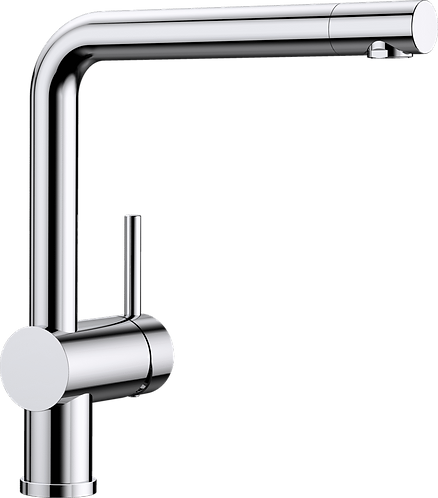 Blanco Linus Single Side Lever Monobloc Tap Chrome & PVD  Steel Finish