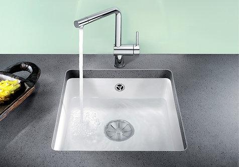 Blanco Subline 375-U Ceramic Undermount Sink & Tap Pack Crystal White 453079