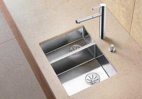 Blanco Claron 340/180-U Stainless Steel 1.5 Bowl Undermount Sink & Tap Pack