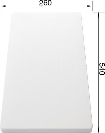 Blanco Plastic Food Board 260 x 540mm 210521