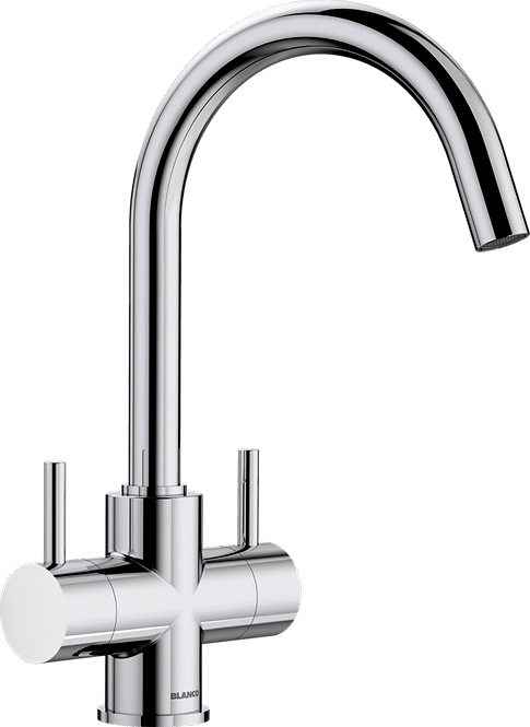Blanco Camia Twin Lever Mixer Tap Chrome 525334