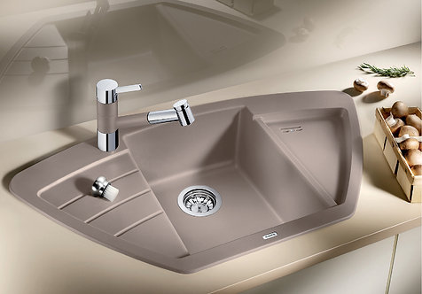 Blanco Zia 9 E  Corner Sink ALA Sink & Tap Pack  Choice of Colour