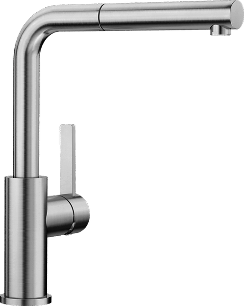 Blanco Lanora-S Stainless Steel Tap With Pull Out Hose 523123