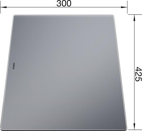Blanco Glass Food Board 425 X 300 230970