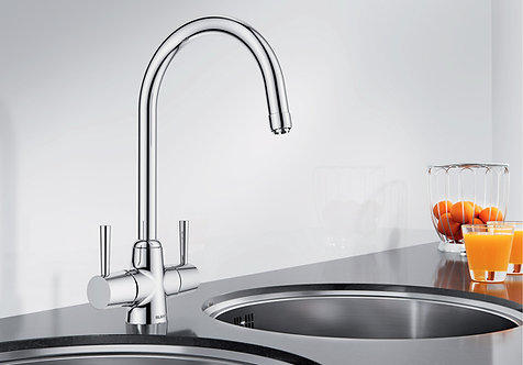 Blanco Arti Tap Brushed Steel/Chrome Upgrade for Sink & Tap Packs 454585/454584