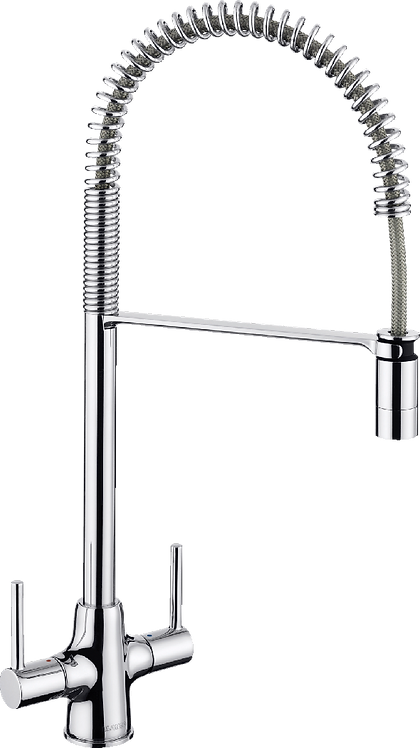 Blanco Archpro Coil Twin Lever Mixer Tap With Spray : 454999