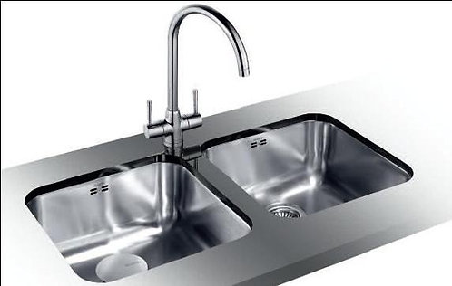 Blanco Supra 400-U Twin Bowls Undermount ALA Sink & Tap Pack 452966