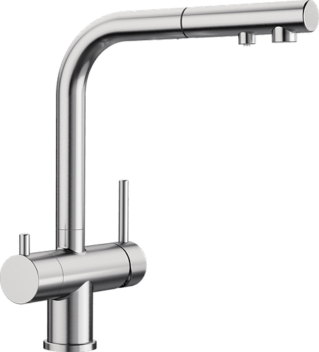 Blanco Fontas-S  II Twin Lever Filter Tap With Pull Out Spray Hose