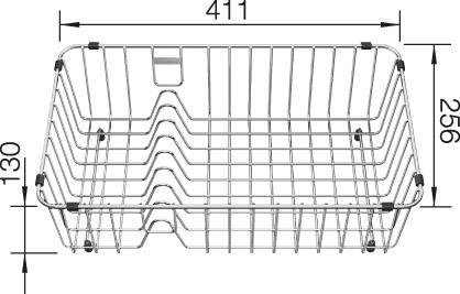 Blanco Crockery Basket Stainless Steel 231692
