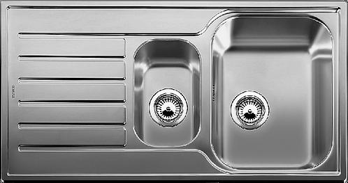 Blanco Lantos 6S 1.5 Bowl Stainless Steel Inset Sink Linen Finish 450820