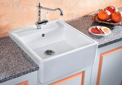 Blanco Panor 60 Ceramic Single Bowl Sink & Tap Pack Crystal White 450306