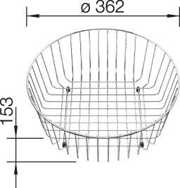 Blanco Wire Basket for Blanco Rondo Sinks 220574