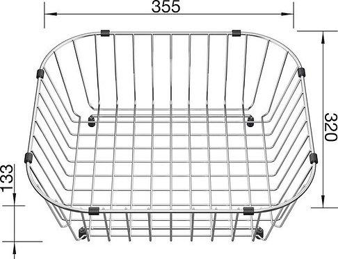 Blanco Crockery Basket Stainless Steel 514238