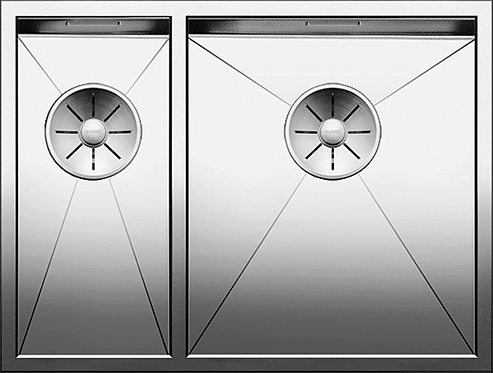 Blanco Zerox 340/180-U Stainless Steel Undermount  Handed 521613/4