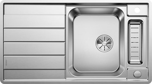Blanco Axis llI 5S IF Stainless Steel Single Bowl Sink with Small Drainer Bowl