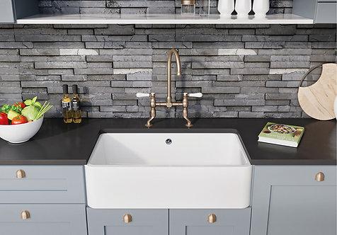 Blanco Villae Single Farmhouse 80 Ceramic Sink & Tap Pack 455788