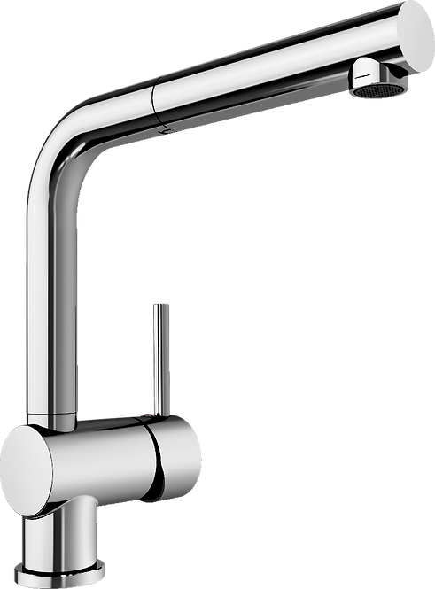 Blanco Mixa-S Single Lever Monobloc Mixer Tap with Pull Out - Chrome 450989