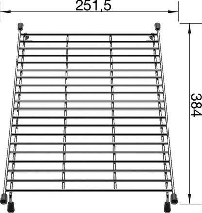 Blanco Floating Grid Stainless Steel 234795