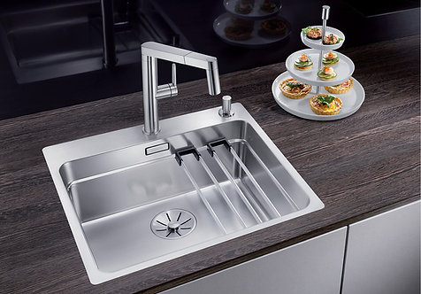 Blanco Etagon 500-IF/A ALA Sink and Tap Pack  454447