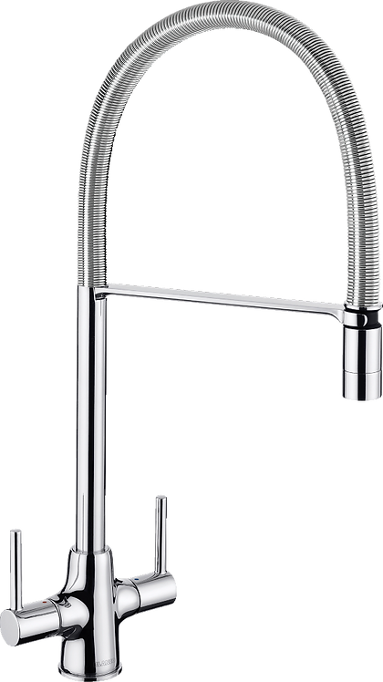 Blanco Archpro Steel Twin Lever Mixer Tap With Spray : 455000