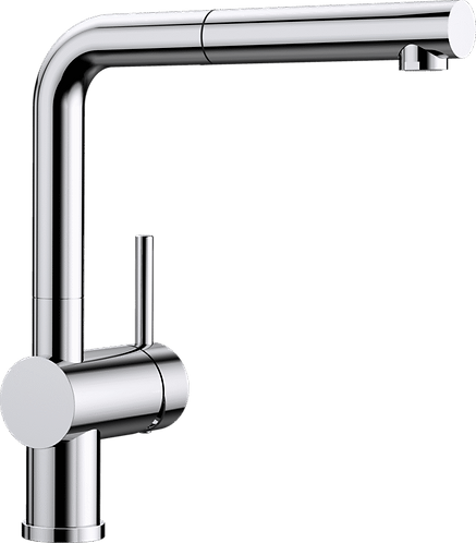 Blanco Linus-S Tap With Pull Out Nozzle Chrome 512402 & Matt Black 525807