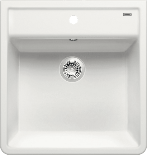 Blanco Panor 60 Ceramic Single Bowl Sink Crystal White 514486