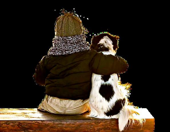 Мальчик с собакой creatiworld.ru.png