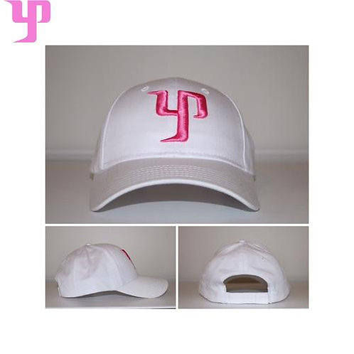 YP Cap (Dad Hat) - White & Pink