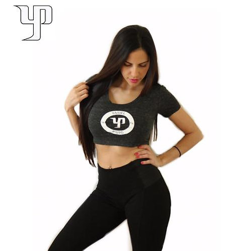 YP66 Charcoal Crop Top