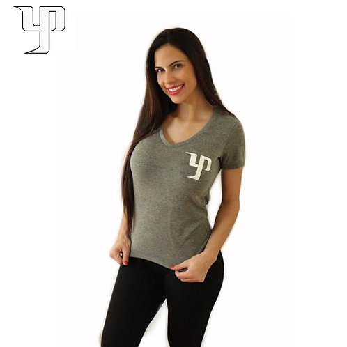 YP Women V-Neck - Grey