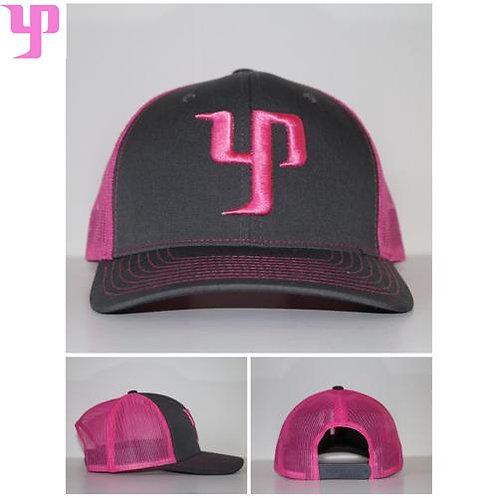 YP Snapback - Gray/Pink