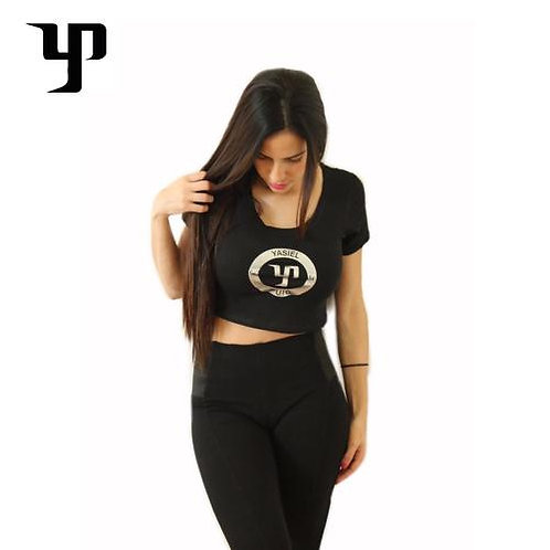 YP66 Black Crop Top