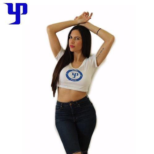 YP66 White Crop Top