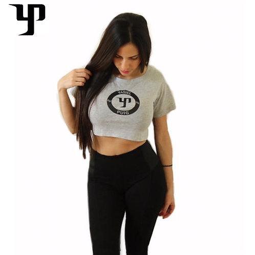 YP66 Gray Crop Top