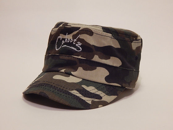 Camouflage hat in Brown with woven logo at the front