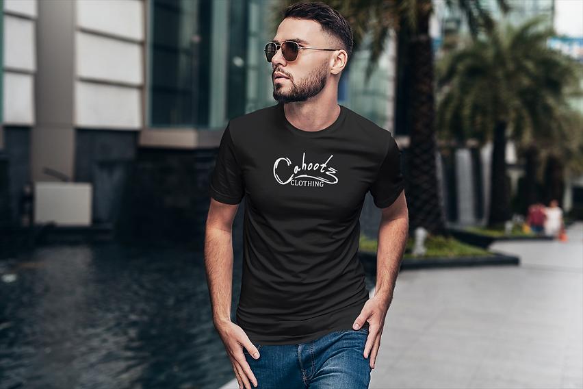 Cahootzclothing-large-logo-t-shirt-black