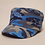 Camouflage hat in Blue with woven logo at the front