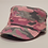Camouflage hat in Pink with woven logo at the front