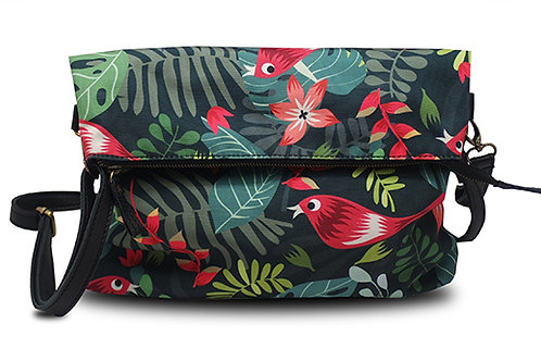 Tropical Forest Black Folded Bag