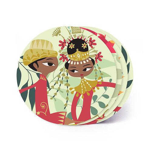 Betawi Bride Board Coaster