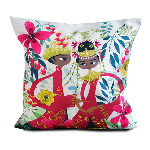 Betawi Bride Embroidered Cushion Cover
