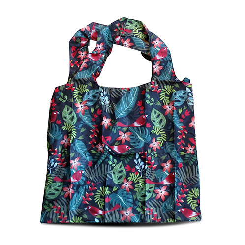Tropical Forest Dark Foldable Eco Shopping Bag