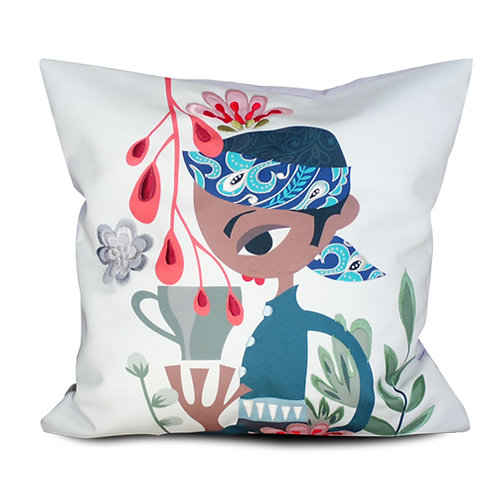 Katresna Akang Embroidered Cushion Cover