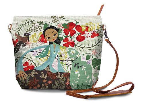 Flamboyant Garden Sling Bag