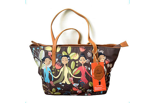 Kebaya Encim Brown Tote Bag