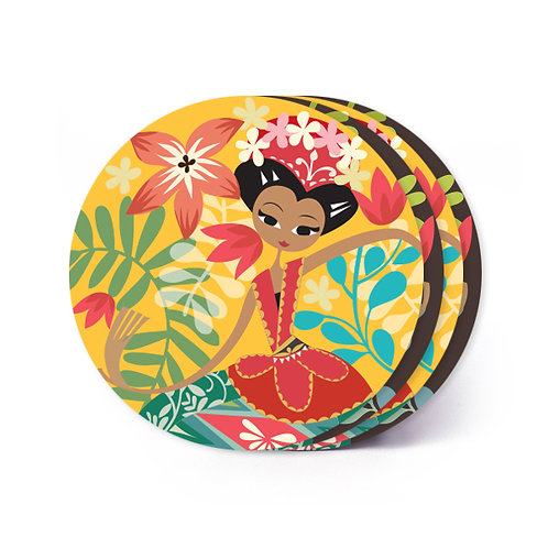 Yapong Dancer Board Coaster