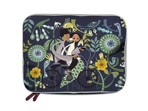 Honeymooners in Blue Laptop Sleeve