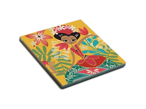 Yellow Dancing Jakarta Ceramic Coaster