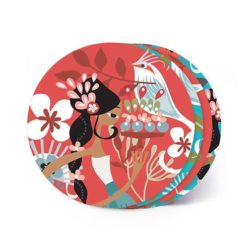 Tiga Dara Board Coaster